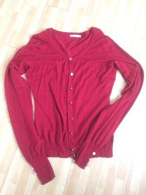 Roter Cardigan - einmal getragen