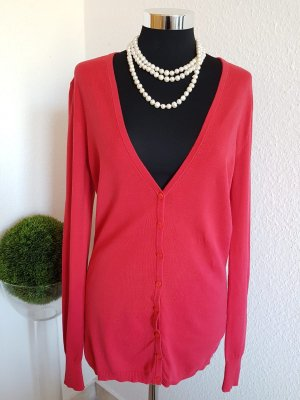 Benetton Knitted Cardigan red
