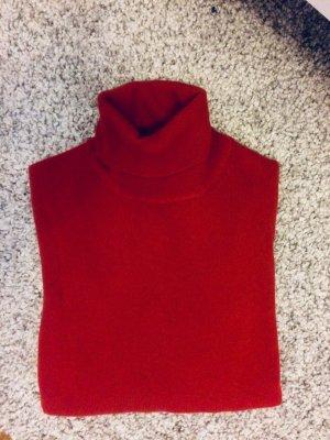 Roter Cashmere Pullover Rollkragenpullover