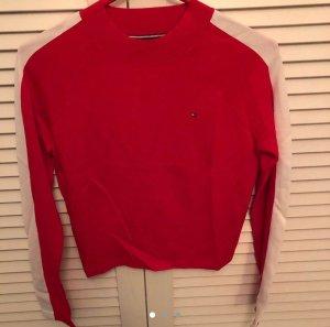 Roter Crop Pullover von Tommy Hilfiger