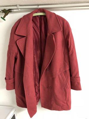 Roter damen Mantel