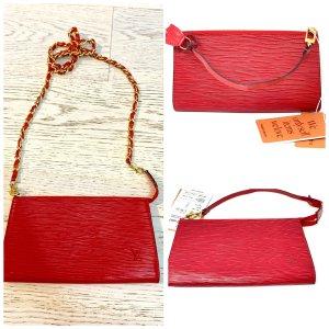 Roter Epi Leder Pochette Louis Vuitton