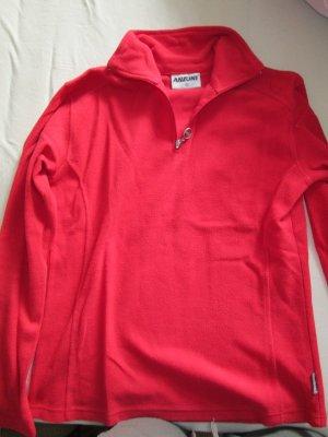 roter Fleece-Pullover