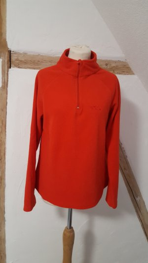 Roter Fleece Pullover Rollkragen Pulli Größe 40/42 Infinity Woman