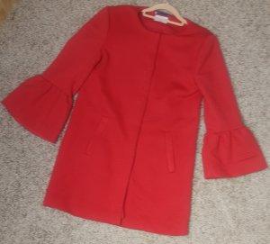 Only Short Coat red mixture fibre