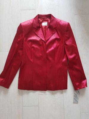 Roter glänzender Stretch-Blazer von Betty Barclay, Größe 38, NEU