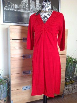 Laura Scott Gebreide jurk baksteenrood Viscose