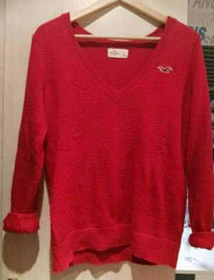roter Hollister Pulli Pullover