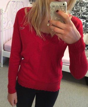 Hollister Camisa tejida rojo