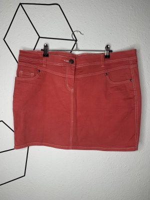 okay Denim Skirt bright red
