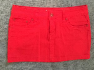 Roter Jeans-Minirock xs