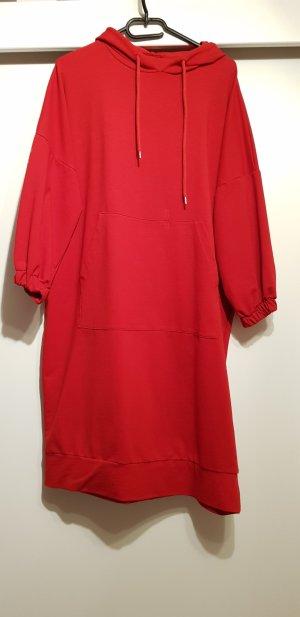 Vestido tipo jersey rojo
