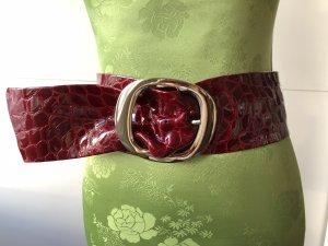 Ceinture en cuir rouge foncé cuir