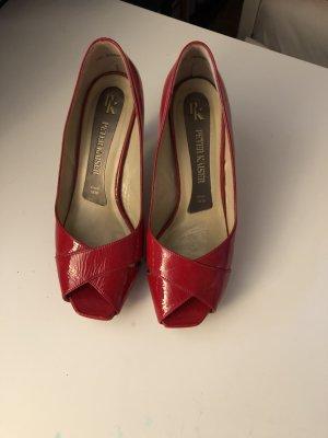 roter Leder-Lack Schuh