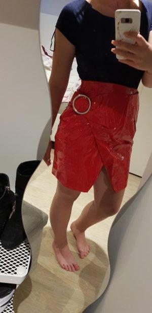 Nakd Leather Skirt red