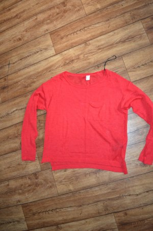 Roter leichter Pullover Gr. S von H&M