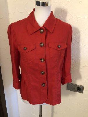 roter Leinenblazer / Blazer / Jacke aus Leinen von Yessica / C&A -Gr. 40
