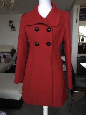 Cappotto in pile rosso-rosso mattone