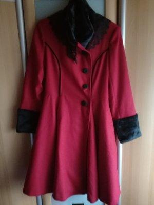Hell Bunny Coat black-red