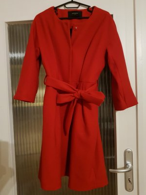 Reserved Long Jacket brick red