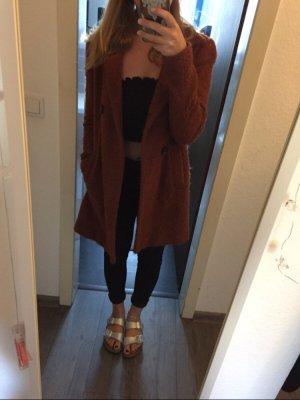 Zara Cappotto in lana ruggine
