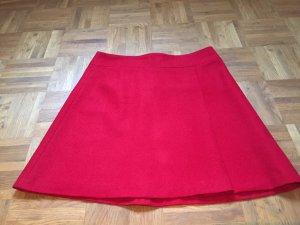 Hallhuber Falda de lana rojo oscuro lana de esquila