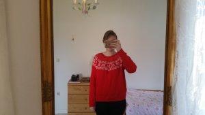 Roter Norwegerpullover von H und M