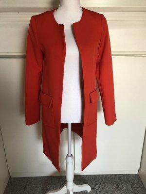 Roter offener Mantel Gr. 34