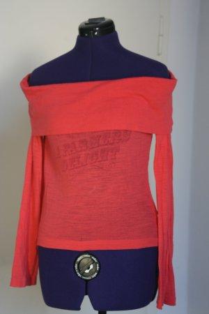 Gsus Camisa tipo Carmen rojo claro Acrílico