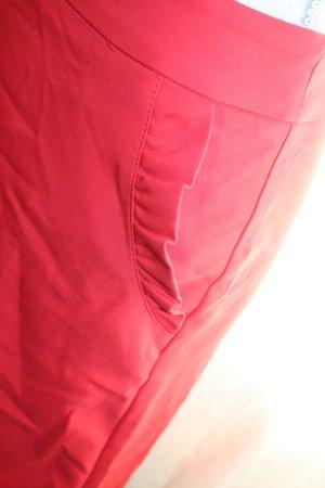 Roter Orsay Minirock mit Rüschen Taschen