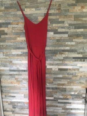 Bershka Tuta rosso scuro-rosso