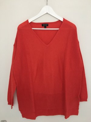 Topshop Oversized Sweater brick red