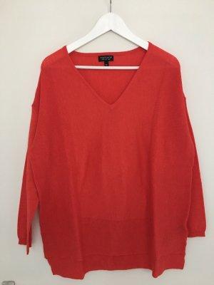 Roter Oversize-Pullover von Topshop