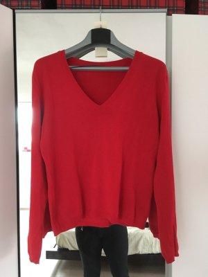 Roter Pulli aus 100% Baumwolle