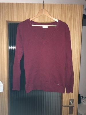 Yessica Jersey de lana rojo oscuro