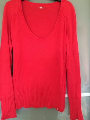 roter Pullover edc in S