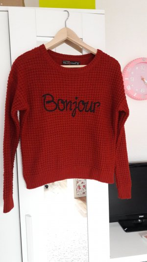 Roter pullover fishbone new yorker Größe XS