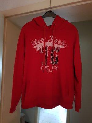 Maglione con cappuccio rosso