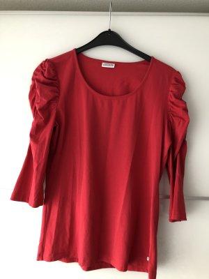 Roter Pullover mit 3/4-Puffärmel Größe 44