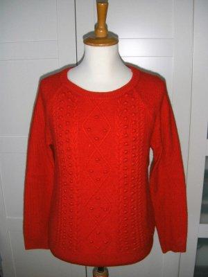 roter Pullover, Strickpullover, Winterpullover, Esprit, Gr. XL