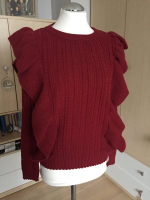 Vero Moda Cable Sweater dark red
