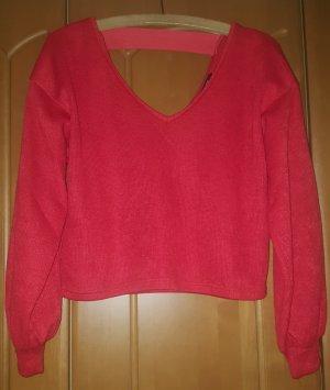 Roter Pullover von Bershka