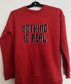 roter Pullover von Pull&Bear