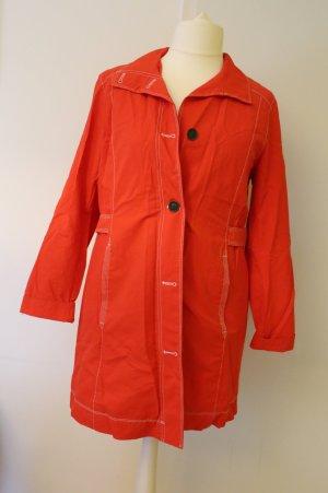 Roter Regenmantel/ Trenchcoat/ Mantel von Eddie Bauer, Größe 46/ XL