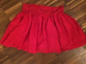 Balloon Skirt red mixture fibre