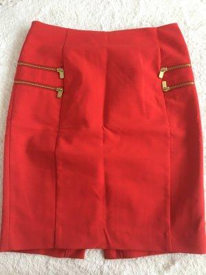 roter Rock mit Reißverschluss -neu-