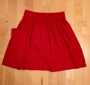 roter Rock von American Apparel Jersey Pocket Skirt