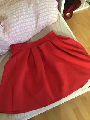 Asos Balloon Skirt red