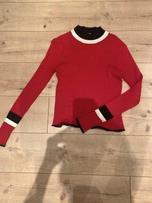 Roter Rollkragen Pullover von zara