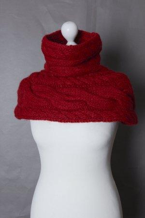 Roter Rollkragen-Schal aus Wolle NEU von CINQUE